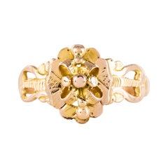 French 19th Century 18 Karat Rose Gold Sentimental Ring