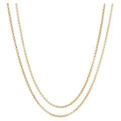 French 19th Century 18 Karat Yellow Gold Choker Necklace