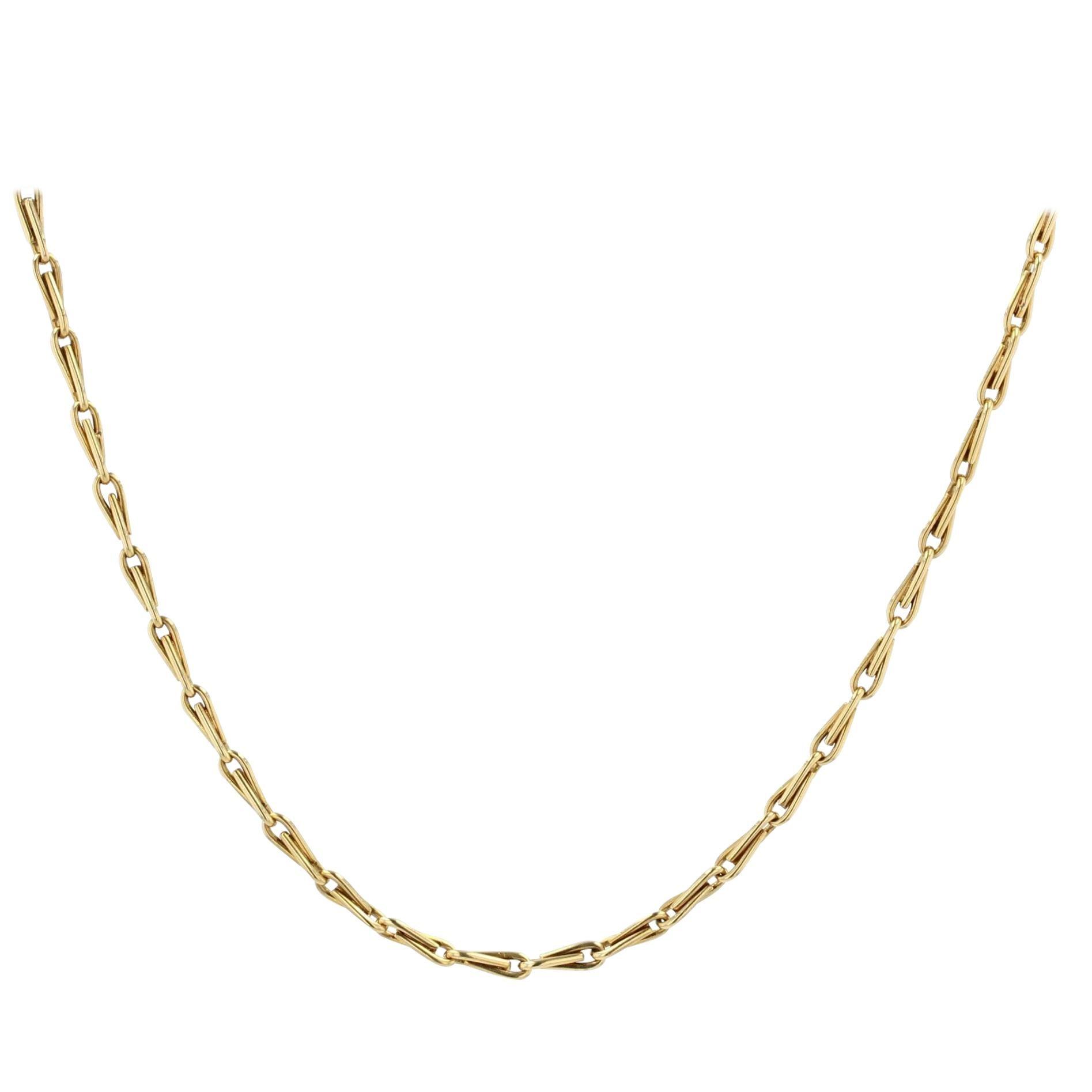 French 19th Century 18 Karat Yellow Gold Watch Chain