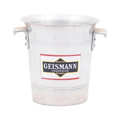 French 19th Century Aluminum Champagne Bucket with Geismann Epernay Label