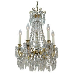 French 19th Century and Crystal Chandelier