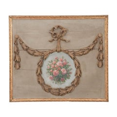 French 19th Century Architectural Overdoor Panel