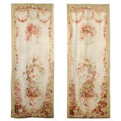 French 19th Century Aubusson Tapestry with Flower and Fruit Decor, Two Available