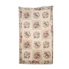 French 19th Century Aubusson Wall Tapestry with Pink and Cream Floral Décor