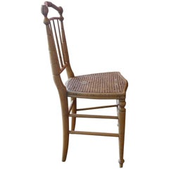 French 19th Century Bamboo and Cane Side Chair