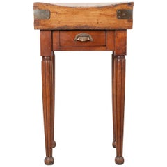 French 19th Century Beechwood Butcher Block