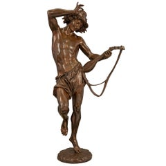 French 19th Century Belle Époque Period Patinated Bronze Statue
