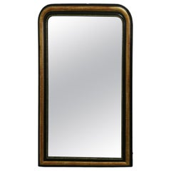 French 19th Century Black and Gold Louis Philippe Mirror