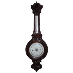 French 19th Century Black Forest Barometer
