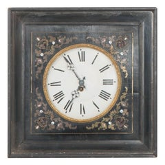 French 19th Century Boulle-Inlaid Wall Clock