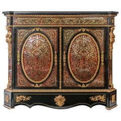 French 19th Century Boulle/Napoleon III Two Door Cabinet