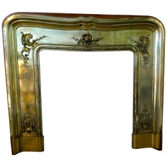 French 19th Century Brass Fire Place Surround
