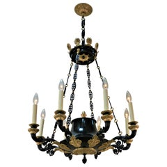 French, 19th Century Bronze Empire Chandelier