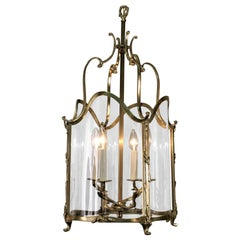 French 19th Century Bronze Lantern