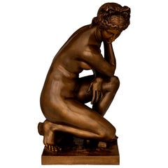 French 19th Century Bronze Statue of Venus, Signed Barbedienne