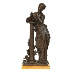 French 19th Century Bronze Statue, Signed H. Dumaige