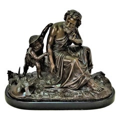 French 19th Century Brown Patinated Bronze
