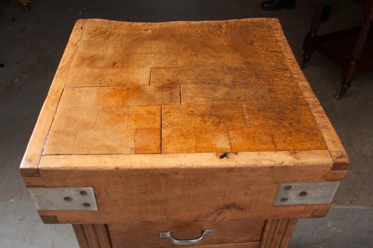 French 19th Century Butcher Block Table For Sale 6