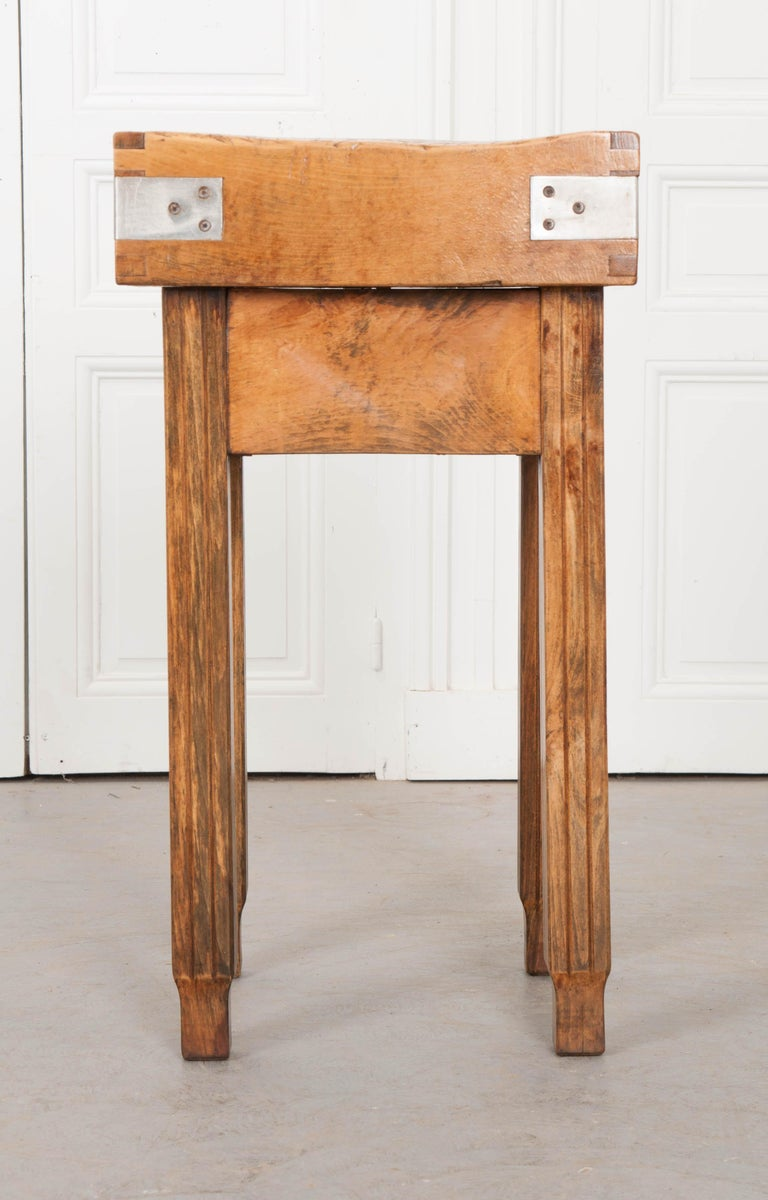 French 19th Century Butcher Block Table For Sale 9