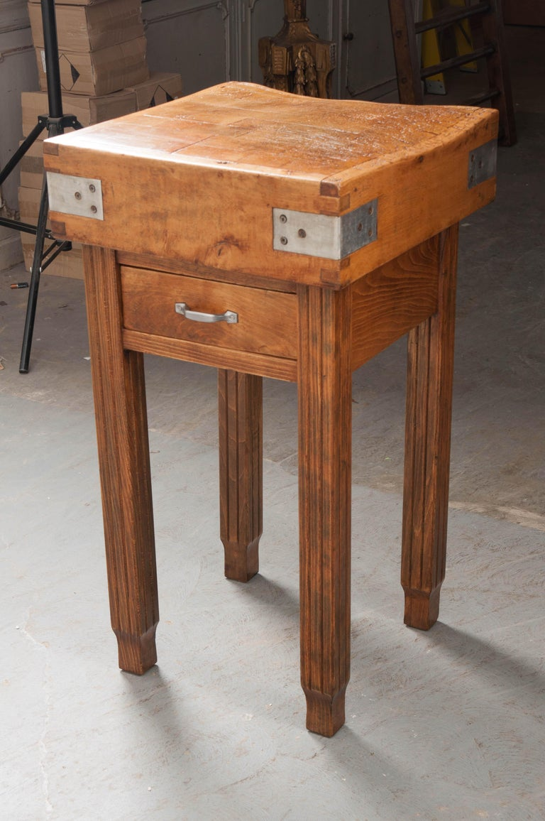 French 19th Century Butcher Block Table For Sale 4