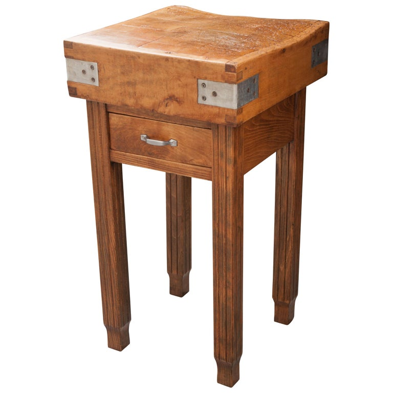French 19th Century Butcher Block Table For Sale