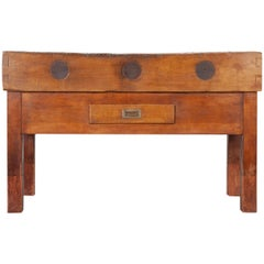 French 19th Century Butcher Block Table