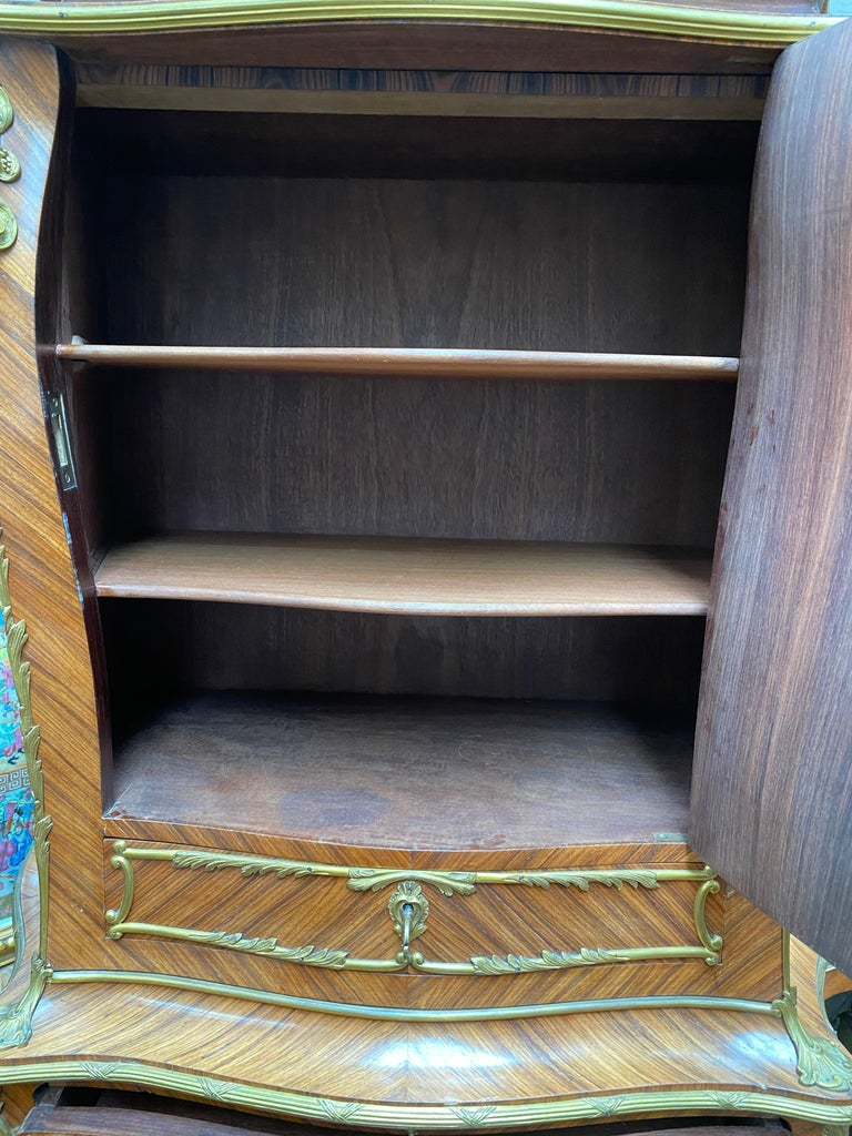 Mahogany French 19th Century Cabinet on Stand after Zweiner For Sale