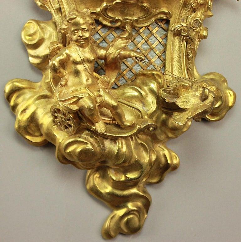 19tes Jahrhundert Kartell Uhr in der Art von Philippe Caffieri Französisch 3