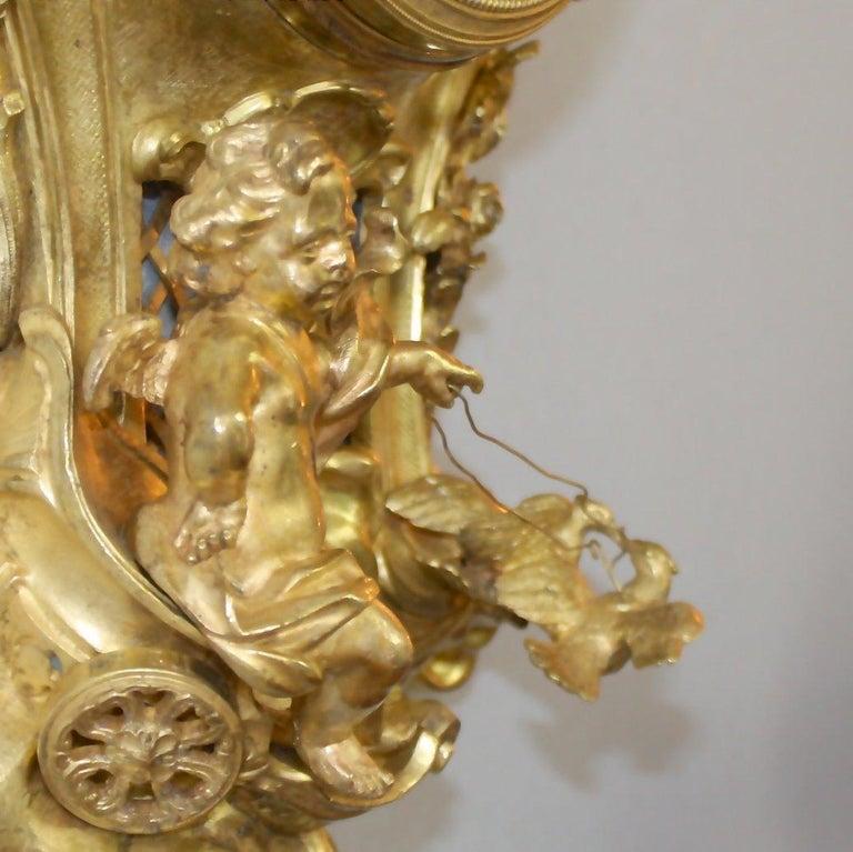 19tes Jahrhundert Kartell Uhr in der Art von Philippe Caffieri Französisch 4