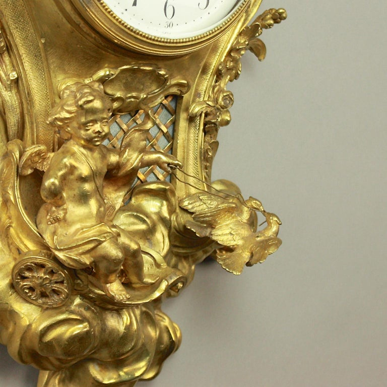 19tes Jahrhundert Kartell Uhr in der Art von Philippe Caffieri Französisch 5