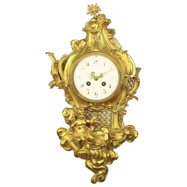 19tes Jahrhundert Kartell Uhr in der Art von Philippe Caffieri Französisch 1