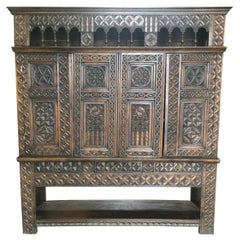 "French 19th Century Carved Chestnut ""Lit-Clos"""