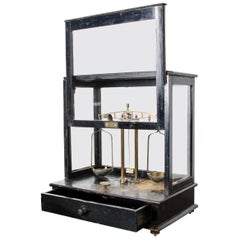 French 19th Century Cased Apothecary Scale