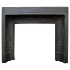 French 19th Century Cast Iron Fireplace Insert