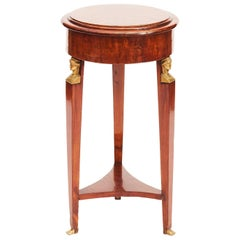 French 19th Century Charles X Guéridon Table in Mahogany and Botswana Agate