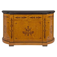 French 19th Century Charles X Style Four Door, Four Drawer Buffet