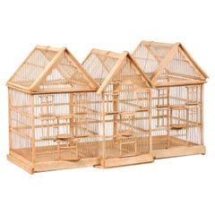 French 19th Century Château Birdcage with Slanted Roofs and Mullioned Windows