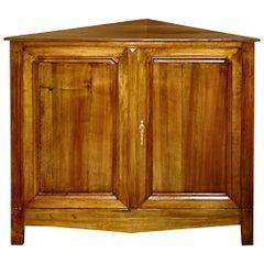 French 19th Century Cherry Corner Cabinet