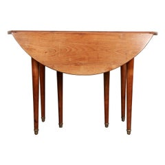 French 19th Century Cherry Extending Drop Leaf Table