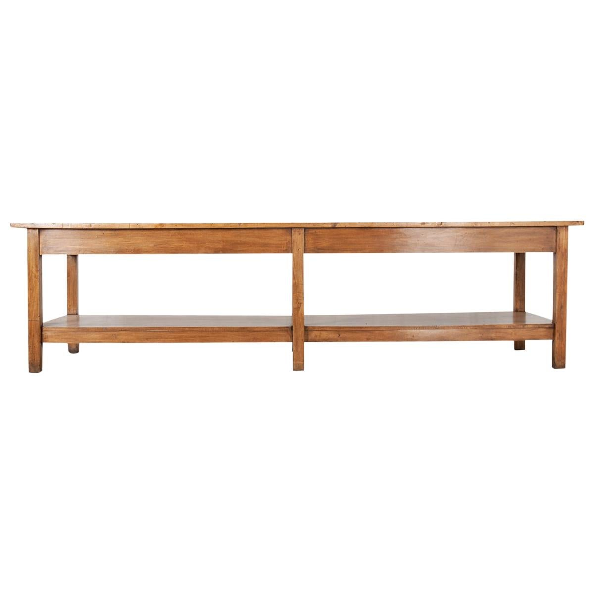 French 19th Century Chestnut Drapery Table