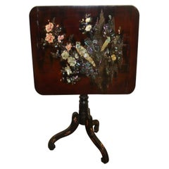 French 19th Century Chinoiserie Tilt-Top Table