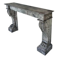 French 19th Century circa 1840 Neoclassical Fireplace Mantel