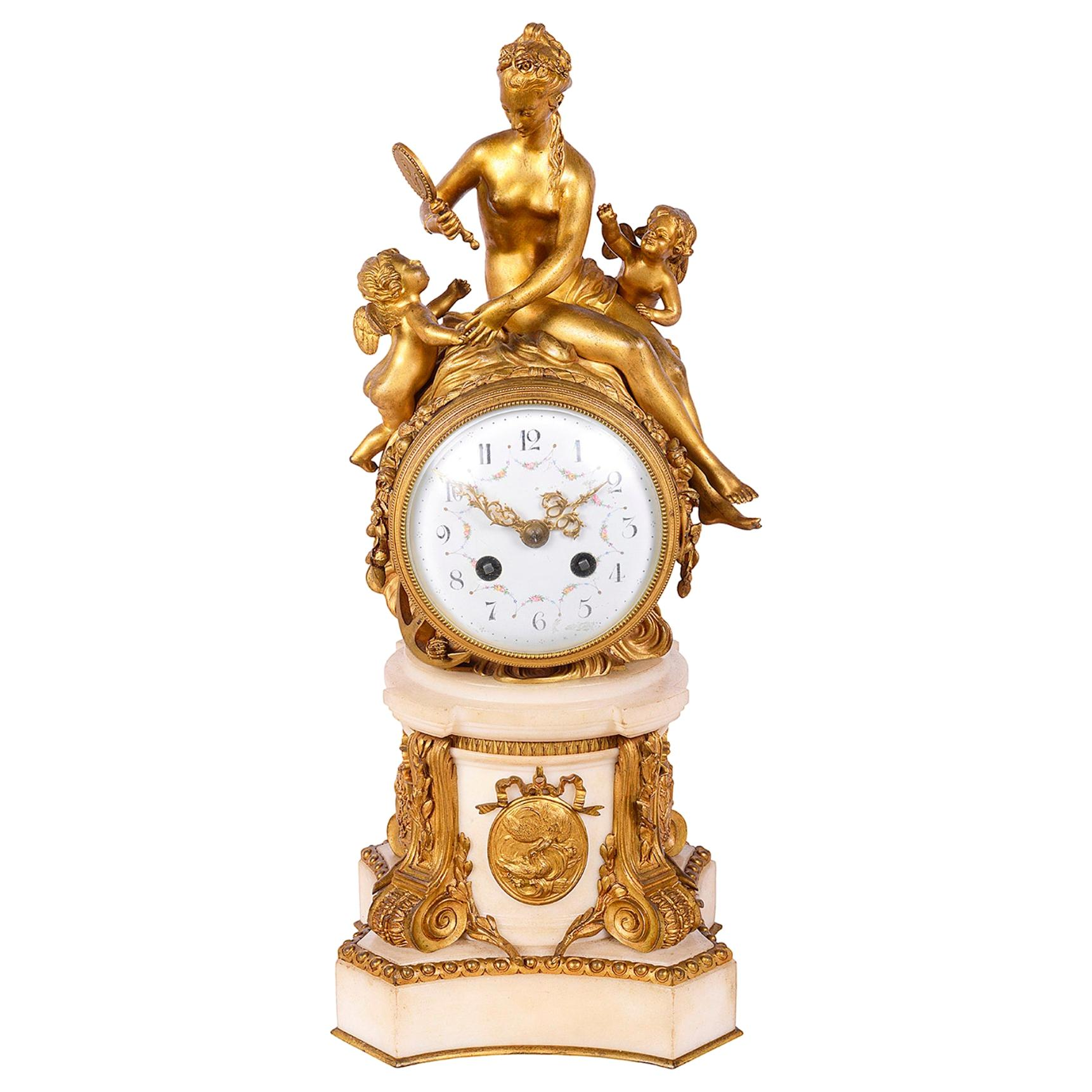 French 19th Century Classical Mantel Clock