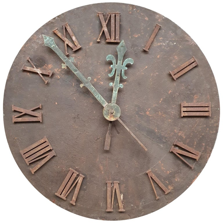 French 19th Century Clock Face For Sale