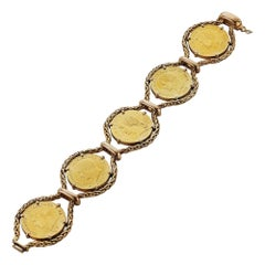 French 19th Century Coin Gold Bracelet
