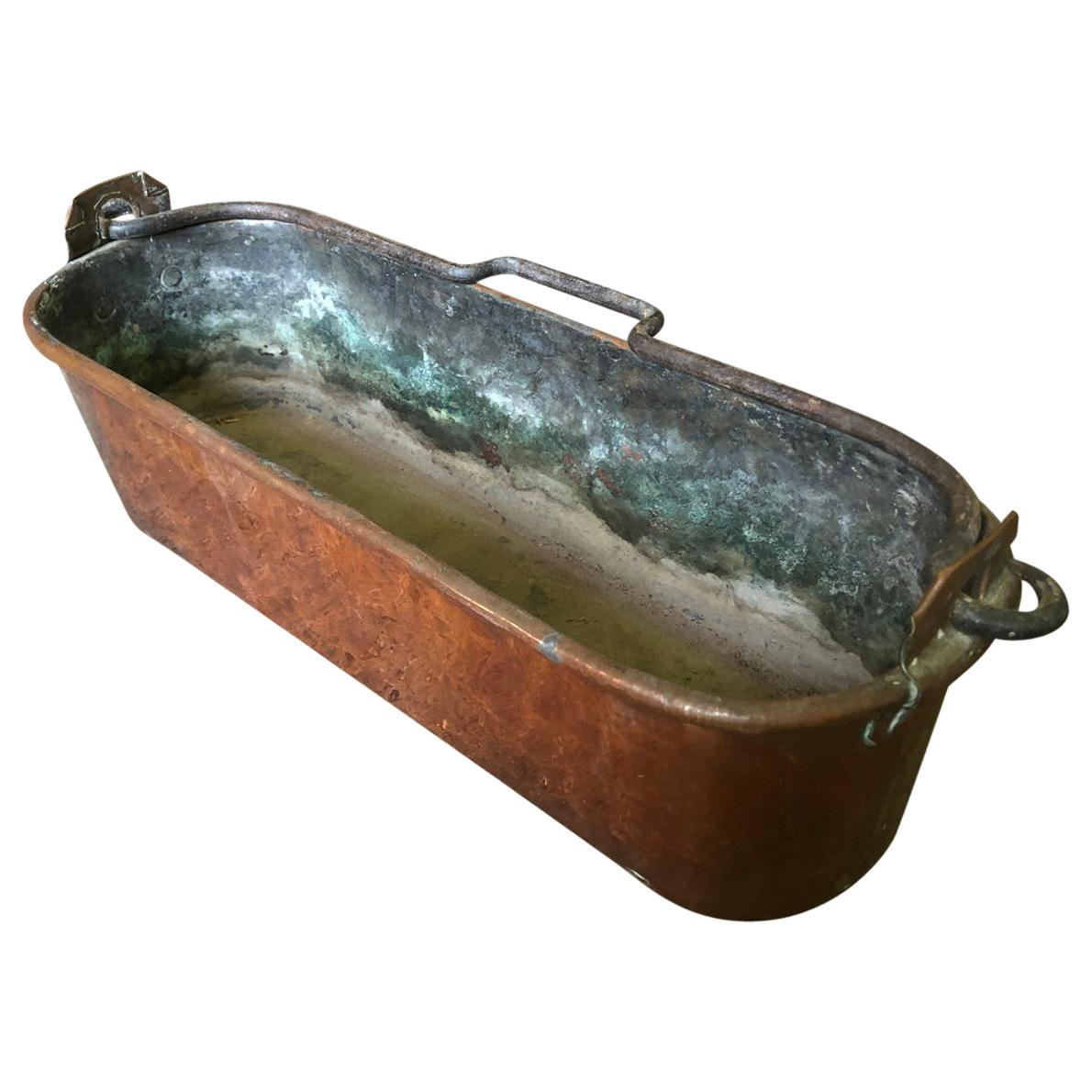 French 19th Century Copper Fish Pan