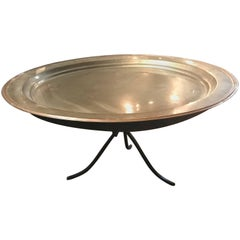 French 19th Century Copper Plate Coffee Table