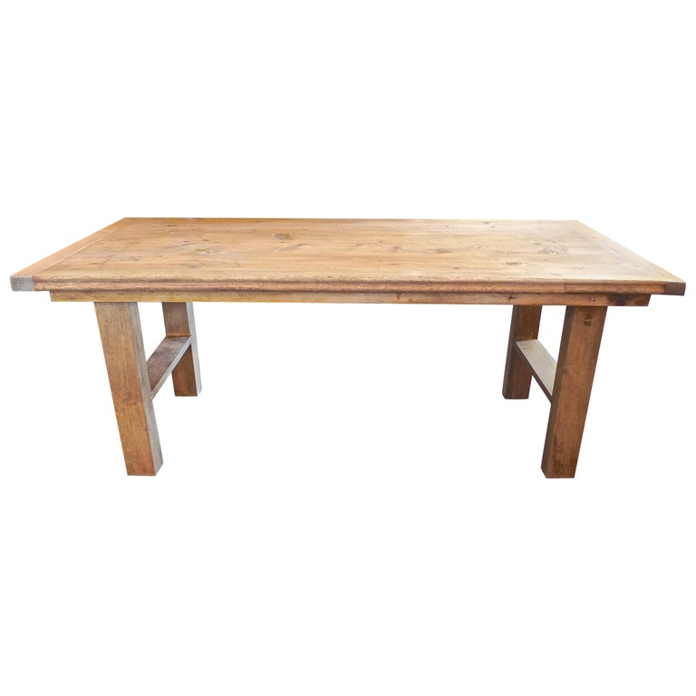 French Provincial Coffee Table For Sale: French 19th Century Country Pine Coffee Table For Sale At