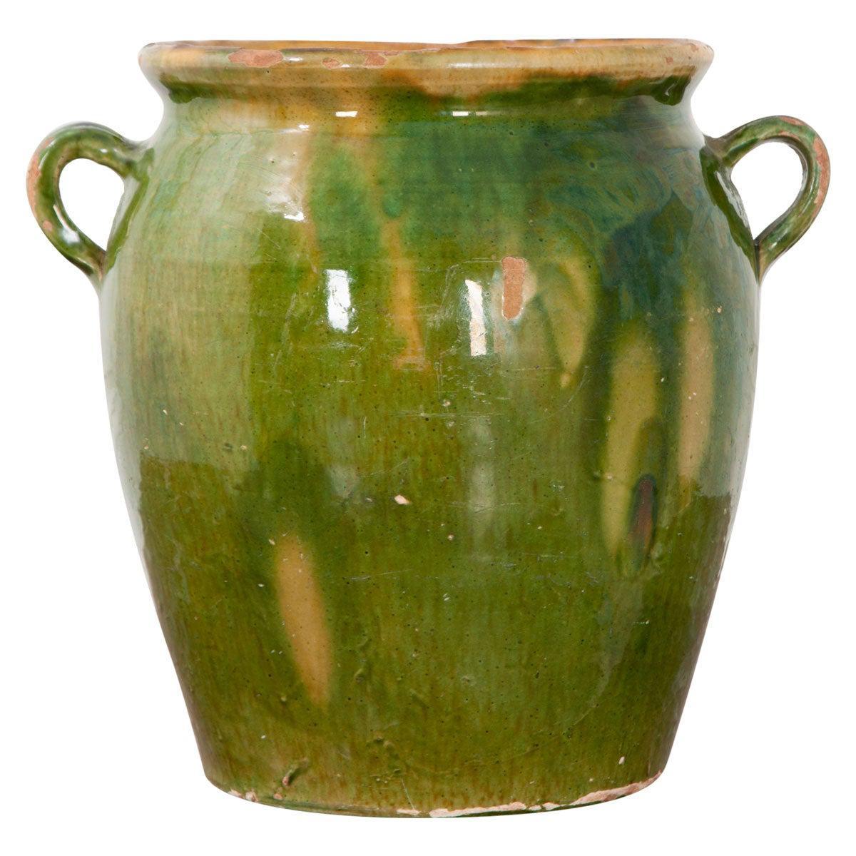 French 19th Century Dark Glazed Confit Jar