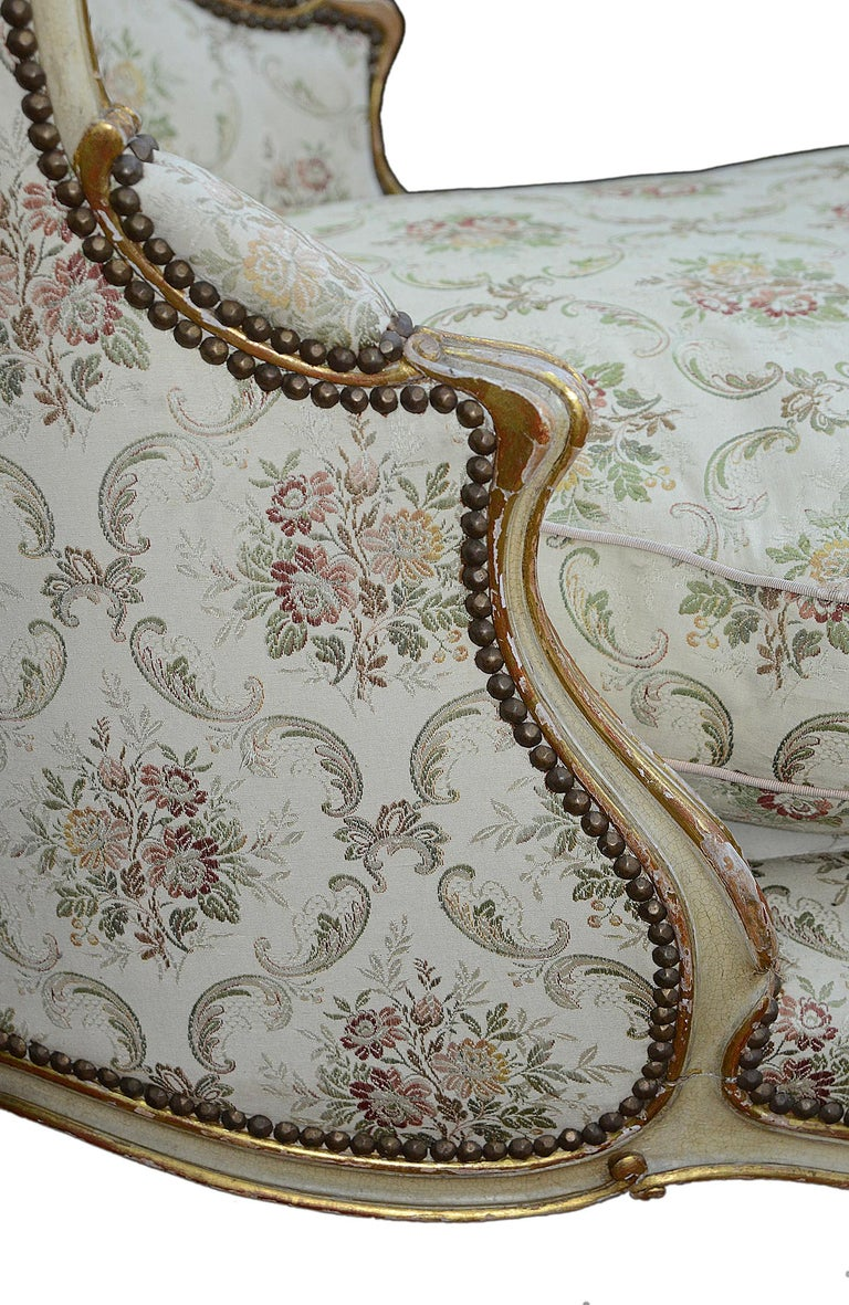 Hand-Painted French 19th Century Daybed, circa 1860 For Sale